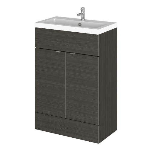 Elite Hacienda Black 600mm Full Depth Vanity Unit & Basin